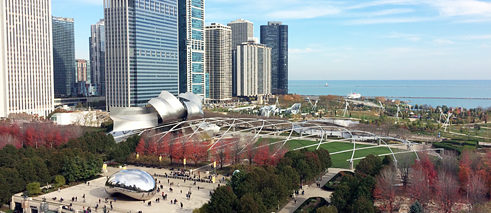 View of Millenium Park Chicago