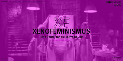 Laboria Cuboniks Xenofeminism | Screenshot (01.06.2017)