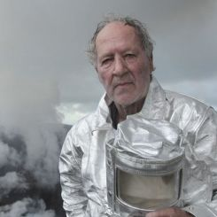 Werner Herzog filming Into the Inferno 2016 on Yasur Volcano, Tanna Island, Vanuatu.