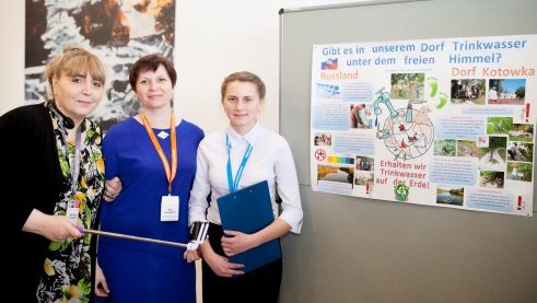 Khatuna Kapanadze, Irina Lukjanowa and Anastasija Dawydenko worked on the project about water