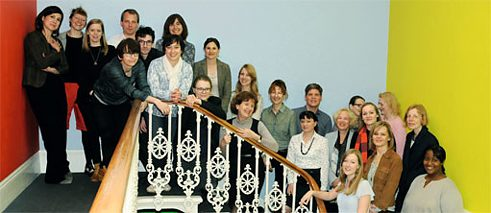 Staff at the Goethe-Institut London