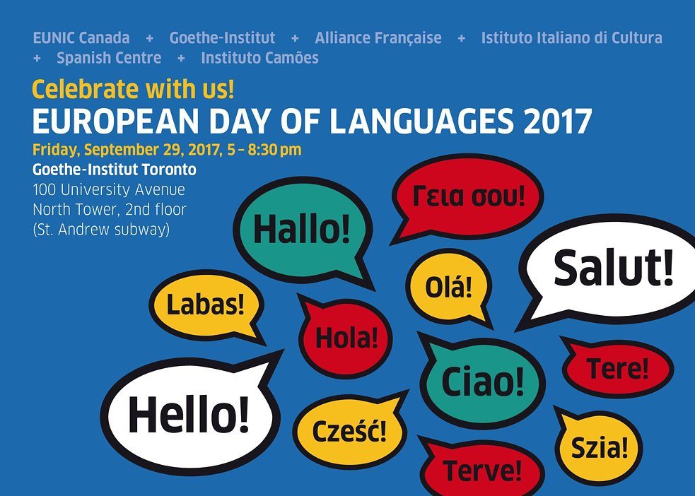 European Day of Languages Toronto 2017 Postcard