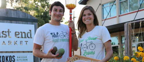 IDEAS Founder and Director, Chris Castro with Fleet Farming's Heather Grove