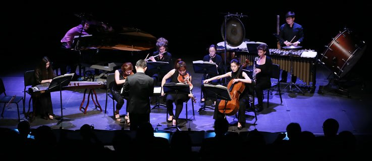 Das TIMF Ensemble beim Asian Composers Showcase 2014.