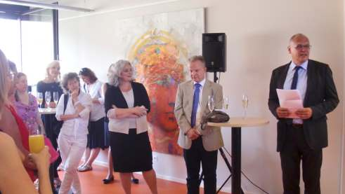 Manuela Beck, head of the region Roland Meinert und general secretary of the Goethe-Institut Johannes Ebert at hte opening
