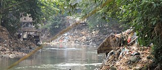The Ciliwung River in the area of the district of Kampung Bukit Duri | Jakarta | Indonesia