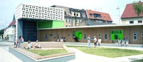 Open air library in Magdeburg
