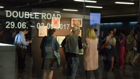 "The opening of the exhibition ""Double Road""."
