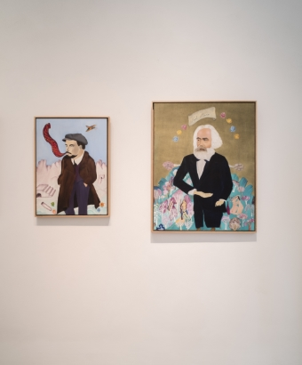 Cecilia Vicuña, Lenin and Karl Marx, 2017