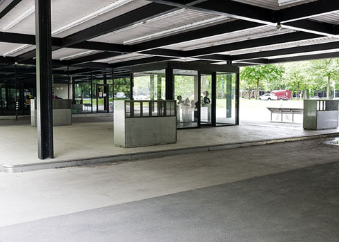 The Esso gas station by Ludwig Mies van der Rohe