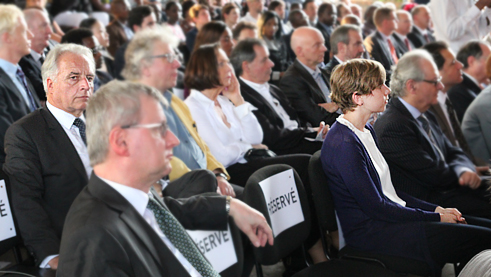 In February 2015, Martin Roth accompanied then Foreign Minister Frank-Walter Steinmeier to the opening of the Goethe-Institut Kinshasa.