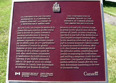 Commemorative plaque on the Plains of Abraham