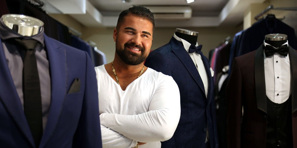 "Mahircan Küccük, ""Hobi Collection, Grooms' and Men's Suits"", Weseler Straße 15"