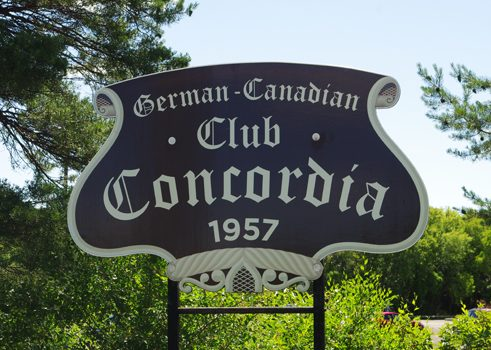"""German Canadian Club Concordia"" from 1957"