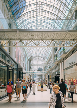 Inside of the Eaton Centre