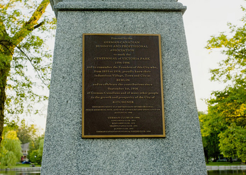 Plaque du « Peace Memorial »