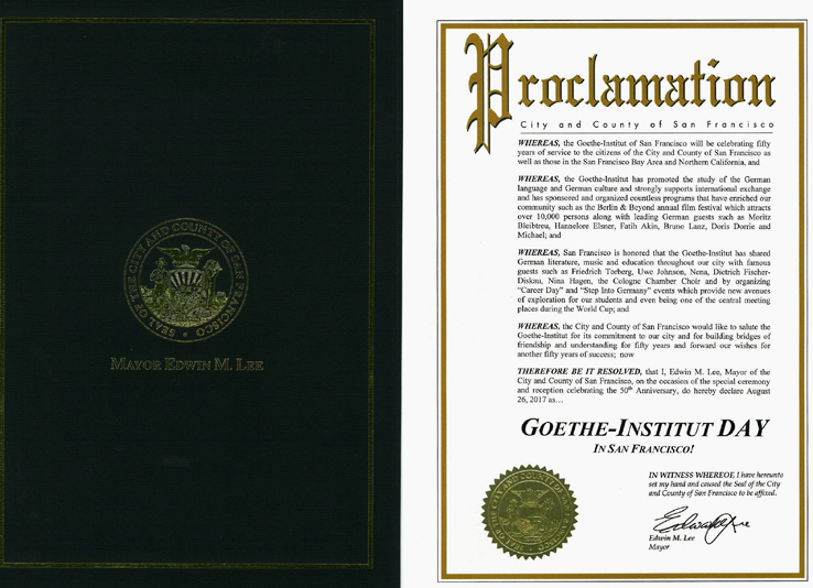 Proclamation City and County of San Francisco
