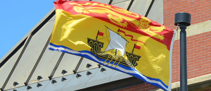 The flag of New Brunswick