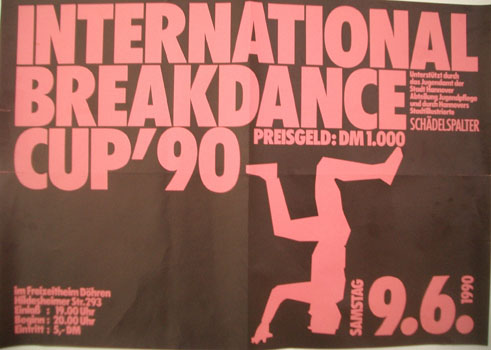 Poster International Breakdance Cup 1990