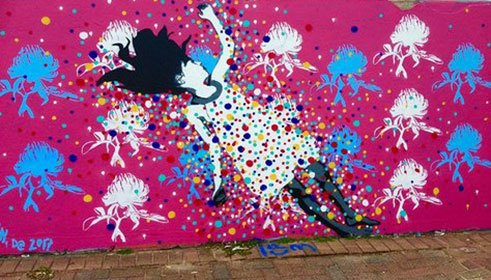 'Alice in Dream Land' (2017) von Mandy Schöne-Salter an den Bondi Walls in Sydney