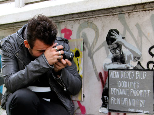 The German Art historian and Street Art expert Sebastian Hartmann