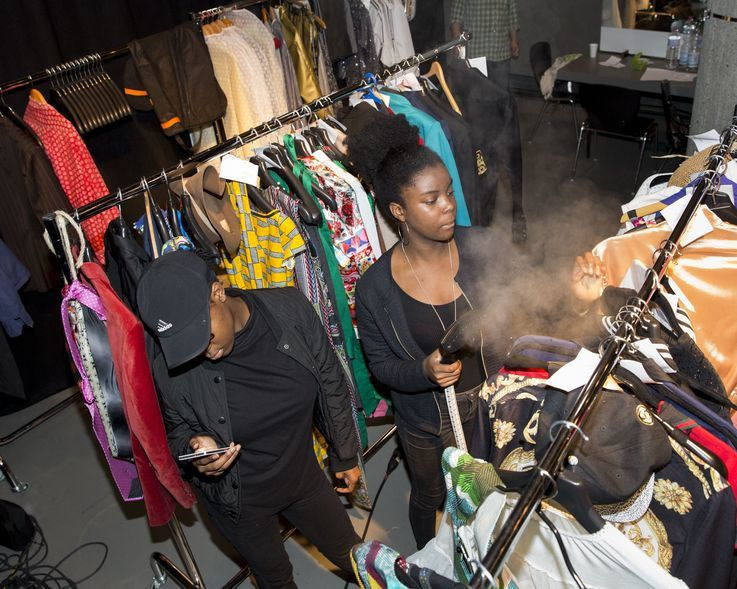 Kinshasa Collection in Berlin: Fashion Show (backstage)