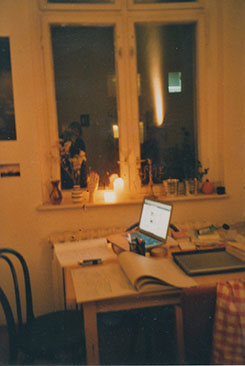 The kitchen of my beautiful Friedrichshain Altbau WG, circa 2012.