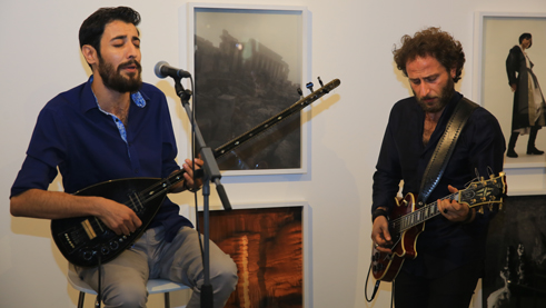 The musicians Ary Sarhan and Miran Gurunian. Photo: Kinobey Productions