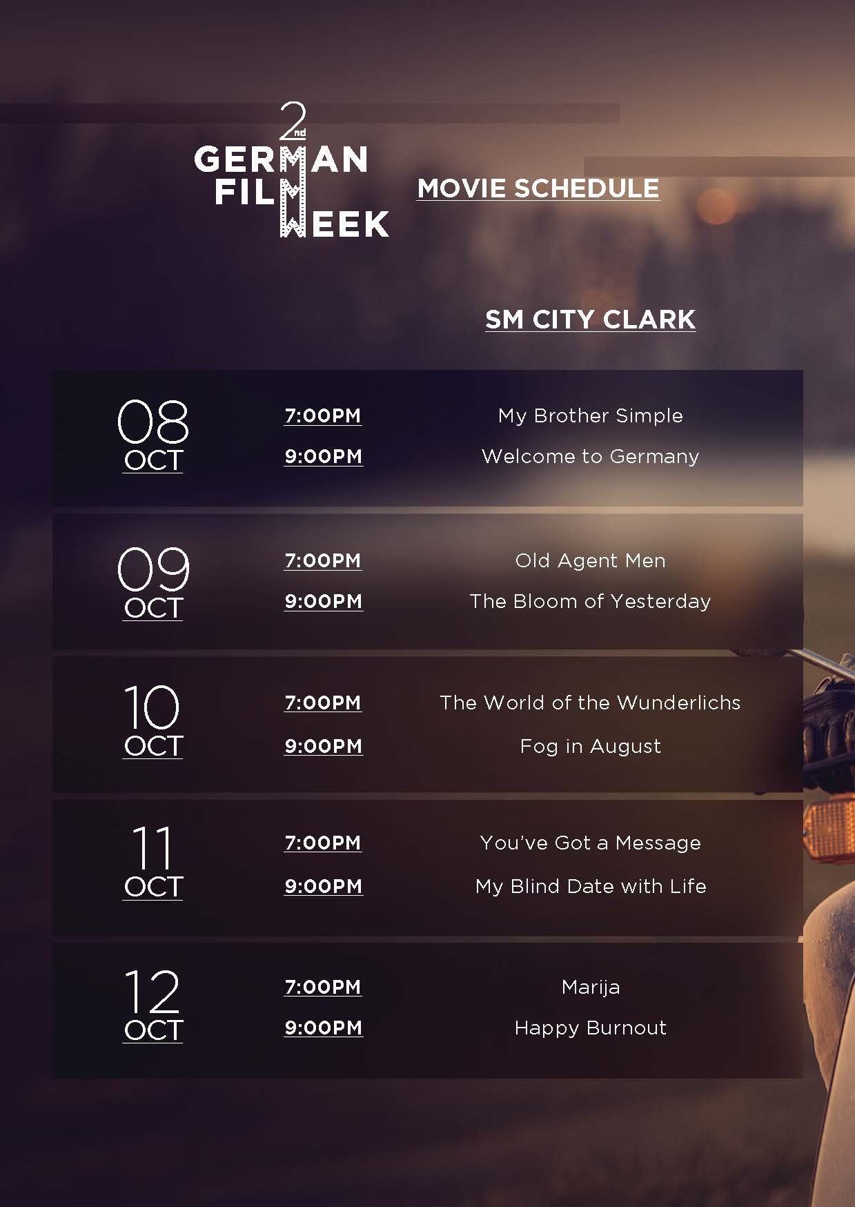 German Film Week Schedule Clark