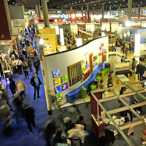 Frankfurt Book Fair: View over the hall (2016)