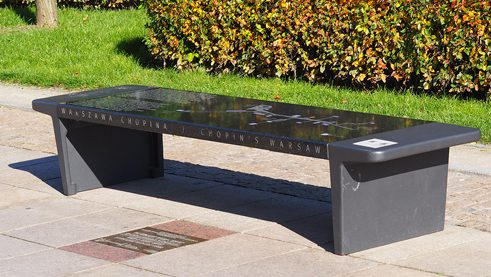 Chopin bench.