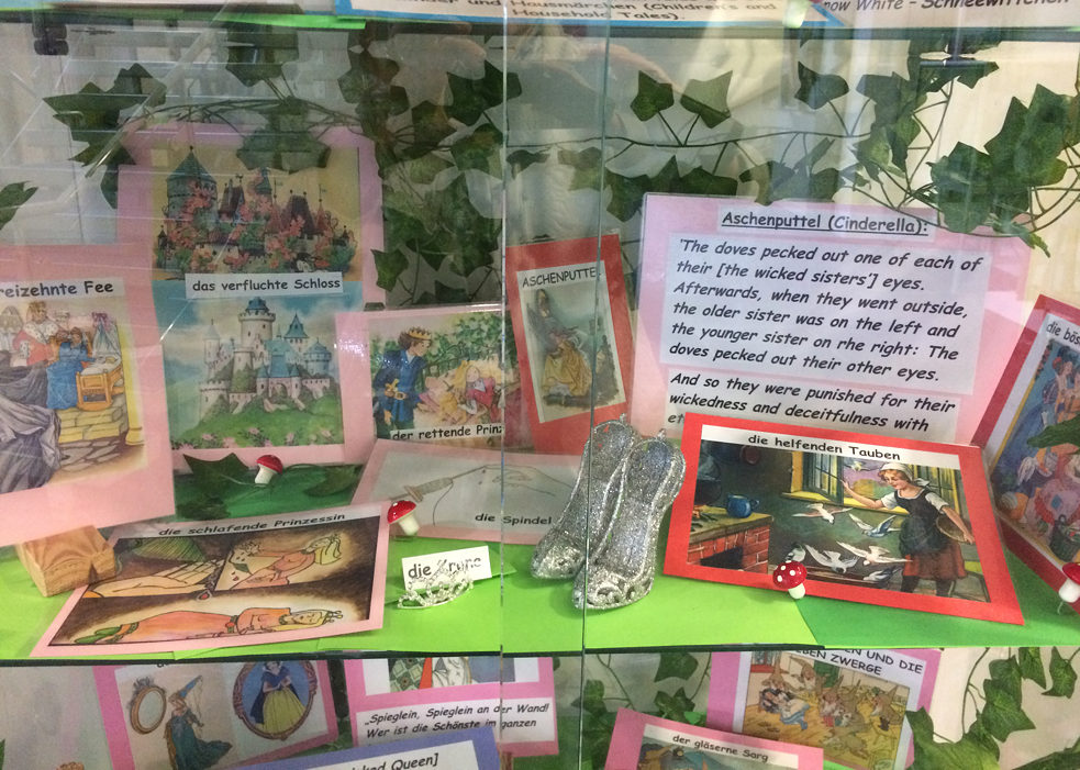 Grimm's Fairy Tales Display - Haberdasher's Monmouth School for Girls