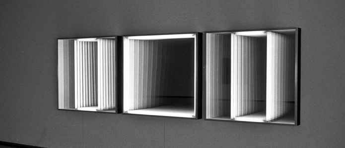Triptych 3 light boxes - Christian Megert 1973