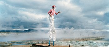 The clown in Iceland is part of a photo series about circus life.