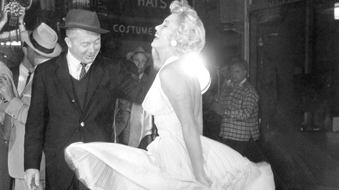 Billy Wilder conveying Marilyn Monroe's allure on screen.