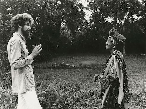 Hubert Fichte with Mother Darling, a Yoruba priestess in 1974.