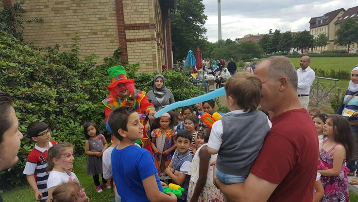 Celebrating Eid with a clown and lots of fun