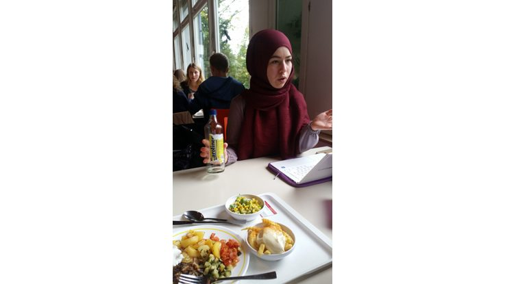 In the canteen with Yasemin
