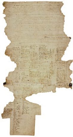The Waitangi sheet signed 6 February 1840: one of nine original copies of Te Tiriti o Waitangi.
