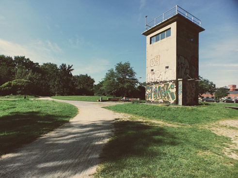 Almost every day I ride over the former Berliner Mauer and past this former watchtower in Kreuzberg, and I try to be grateful for such freedom.