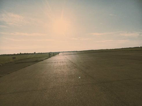 My running partner was training for the Berlin Marathon, which meant early morning laps around Tempelhofer Feld.