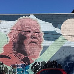 """David Suzuki with Atlantic Salmon"" by Kevin Ledo"
