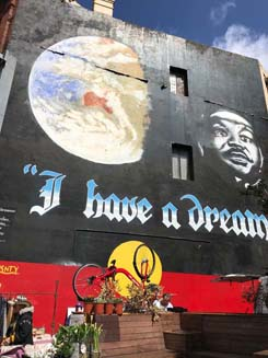 """I have a dream!"" is Newtown's most famous mural by Andrew Aiken and Juilee Pryor."