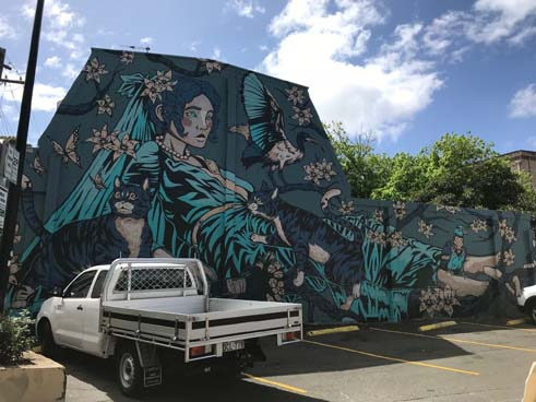 This street art mural by Ox King is also part of the Perfect Match program run by Inner West Council.