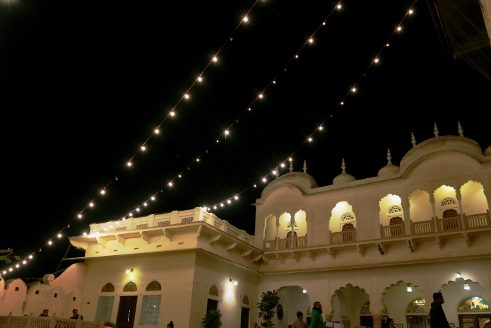 Alsisar Mahal at night