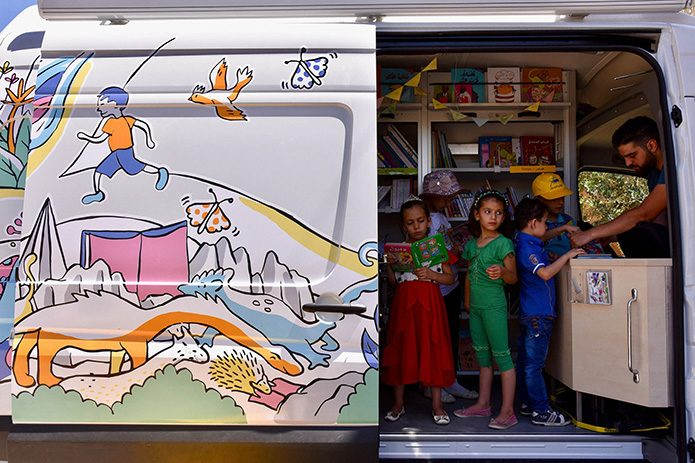 Children discover the BibBus