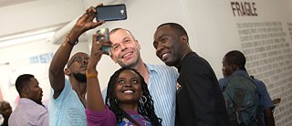 Wolfgang Tillmans bei der Vernissage am 12. Januar 2018 im Musée d'Art Contemporain et Multimédias in Kinshasa