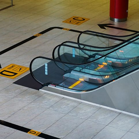 Escalator at the airport