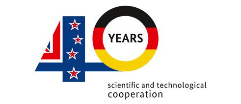40 years of NZ-Germany science cooperation Logo