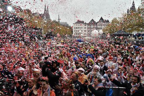 Kicking off Carnival on 11/11 in Cologne's historical city centre